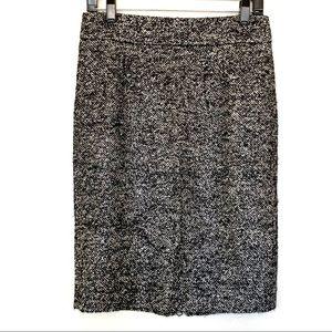 J Crew Wool Blend Pencil Skirt Zipper Size 2